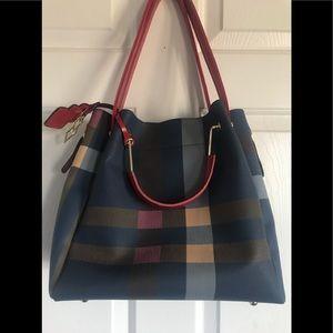 Handbags - Beautiful plaid handbag crossbody bag tote